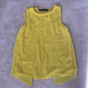 Zara yellow tank top blouse